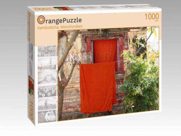 """Puzzle Motiv """"Kambodscha, Mönchsroben"""" - Puzzle-Schachtel zu 1000 Teile Puzzle"""