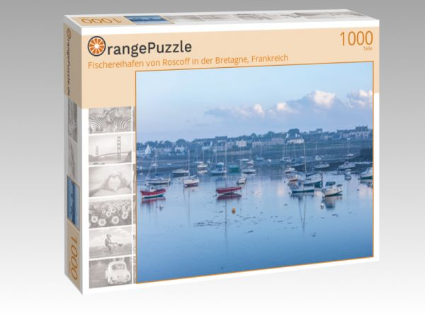 """Puzzle Motiv """"Fischereihafen von Roscoff in der Bretagne, Frankreich"""" - Puzzle-Schachtel zu 1000 Teile Puzzle"""