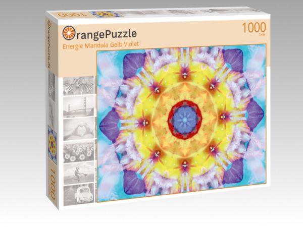 """Puzzle Motiv """"Energie Mandala Gelb Violet"""" - Puzzle-Schachtel zu 1000 Teile Puzzle"""