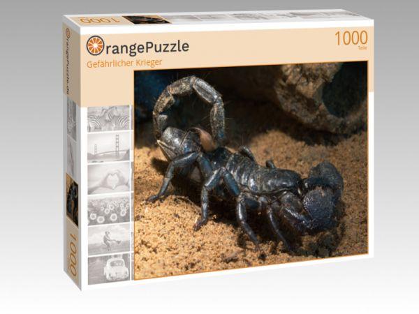 """Puzzle Motiv """"Gefährlicher Krieger"""" - Puzzle-Schachtel zu 1000 Teile Puzzle"""