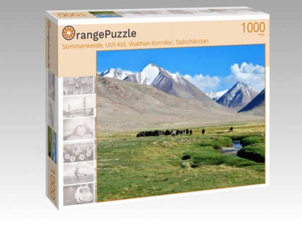 """Puzzle Motiv """"Sommerweide, Uch Kol, Wakhan Korridor, Tadschikistan"""" - Puzzle-Schachtel zu 1000 Teile Puzzle"""