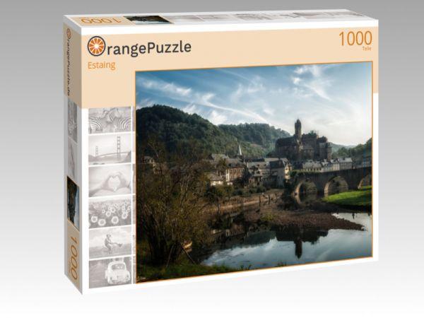"""Puzzle Motiv """"Estaing"""" - Puzzle-Schachtel zu 1000 Teile Puzzle"""