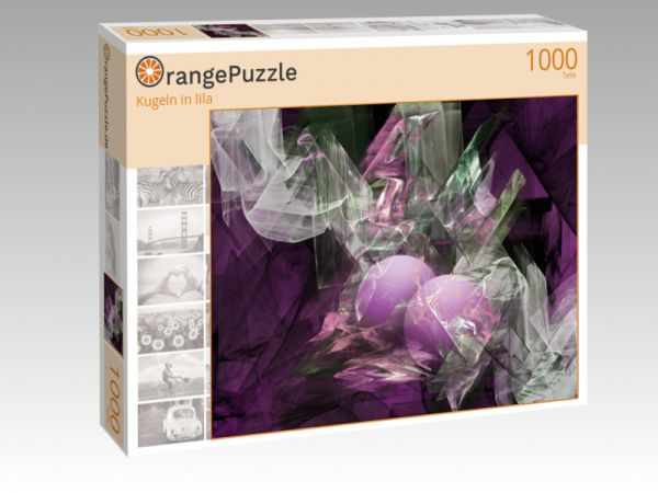 """Puzzle Motiv """"Kugeln in lila"""" - Puzzle-Schachtel zu 1000 Teile Puzzle"""