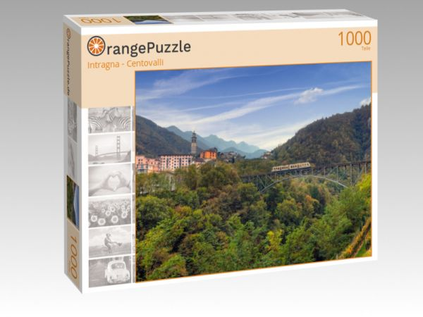 """Puzzle Motiv """"Intragna - Centovalli"""" - Puzzle-Schachtel zu 1000 Teile Puzzle"""