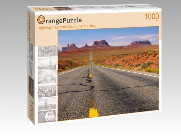 """Puzzle Motiv """"Highway 163 zum Monument Valley"""" - Puzzle-Schachtel zu 1000 Teile Puzzle"""