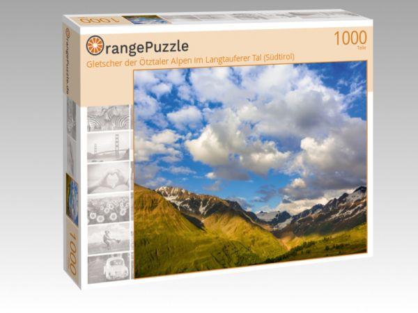 """Puzzle Motiv """"Gletscher der Ötztaler Alpen im Langtauferer Tal (Südtirol)"""" - Puzzle-Schachtel zu 1000 Teile Puzzle"""