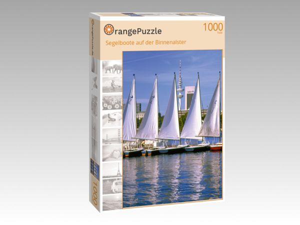 """Puzzle Motiv """"Segelboote auf der Binnenalster"""" - Puzzle-Schachtel zu 1000 Teile Puzzle"""