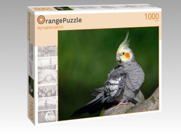 """Puzzle Motiv """"Nymphensittich"""" - Puzzle-Schachtel zu 1000 Teile Puzzle"""