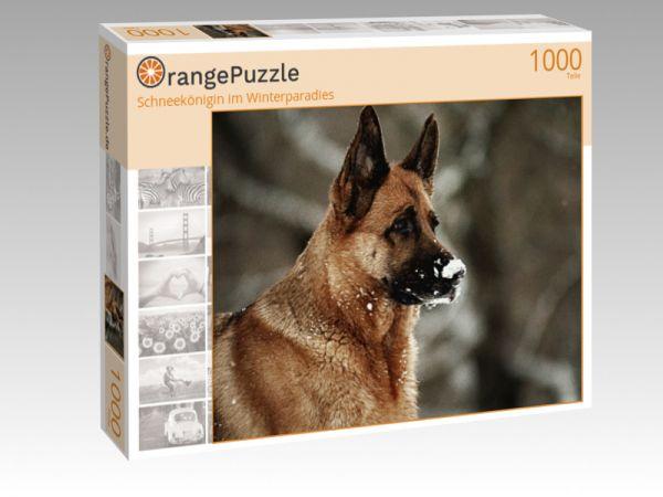 """Puzzle Motiv """"Schneekönigin im Winterparadies"""" - Puzzle-Schachtel zu 1000 Teile Puzzle"""