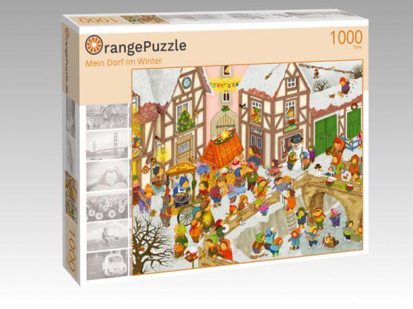 """Puzzle Motiv """"Mein Dorf im Winter"""" - Puzzle-Schachtel zu 1000 Teile Puzzle"""