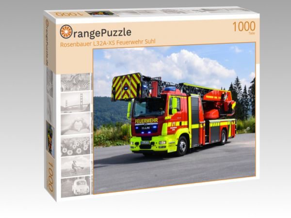 "Puzzle Motiv ""Rosenbauer L32A-XS Feuerwehr Suhl"" - Puzzle-Schachtel zu 1000 Teile Puzzle"