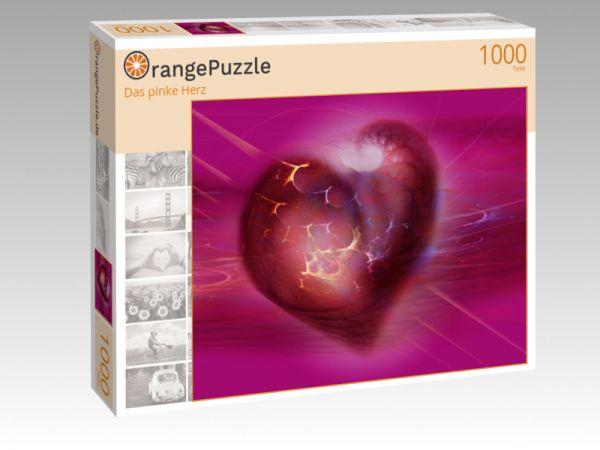 """Puzzle Motiv """"Das pinke Herz"""" - Puzzle-Schachtel zu 1000 Teile Puzzle"""