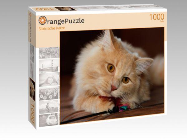 "Puzzle Motiv ""Sibirische Katze"" - Puzzle-Schachtel zu 1000 Teile Puzzle"