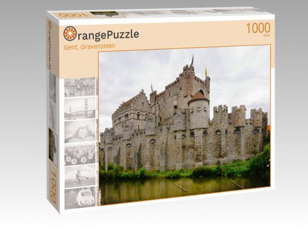 """Puzzle Motiv """"Gent, Gravensteen"""" - Puzzle-Schachtel zu 1000 Teile Puzzle"""
