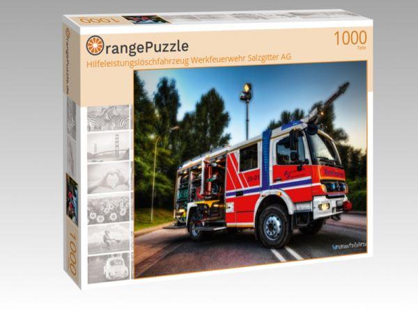 """Puzzle Motiv """"Hilfeleistungslöschfahrzeug Werkfeuerwehr Salzgitter AG"""" - Puzzle-Schachtel zu 1000 Teile Puzzle"""