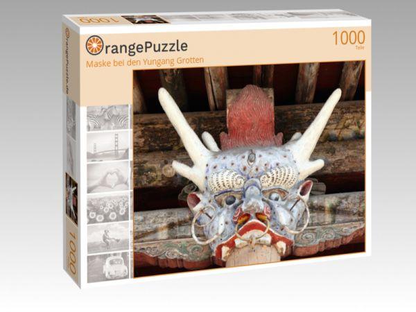 """Puzzle Motiv """"Maske bei den Yungang Grotten"""" - Puzzle-Schachtel zu 1000 Teile Puzzle"""