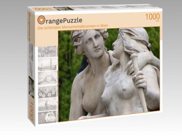 """Puzzle Motiv """"""""Die schönsten Monumentalbrunnen in Wien"""""""" - Puzzle-Schachtel zu 1000 Teile Puzzle"""