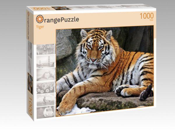 """Puzzle Motiv """"Tiger"""" - Puzzle-Schachtel zu 1000 Teile Puzzle"""