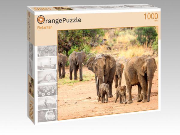 """Puzzle Motiv """"Elefanten"""" - Puzzle-Schachtel zu 1000 Teile Puzzle"""