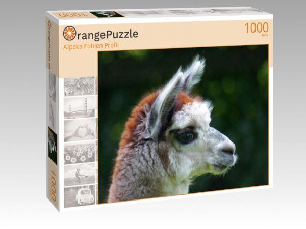 """Puzzle Motiv """"Alpaka Fohlen Profil"""" - Puzzle-Schachtel zu 1000 Teile Puzzle"""