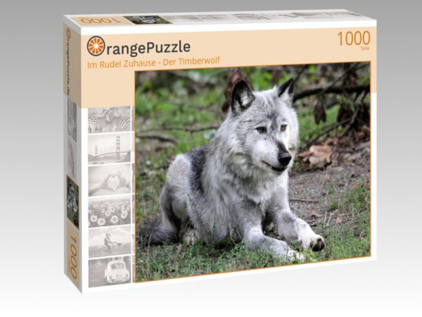 """Puzzle Motiv """"Im Rudel Zuhause - Der Timberwolf"""" - Puzzle-Schachtel zu 1000 Teile Puzzle"""