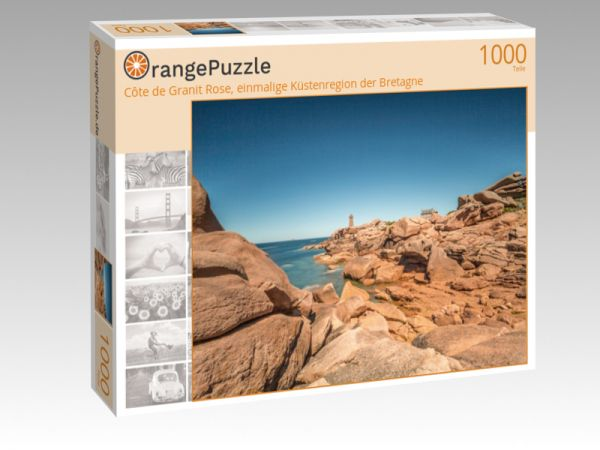 """Puzzle Motiv """"Côte de Granit Rose, einmalige Küstenregion der Bretagne"""" - Puzzle-Schachtel zu 1000 Teile Puzzle"""