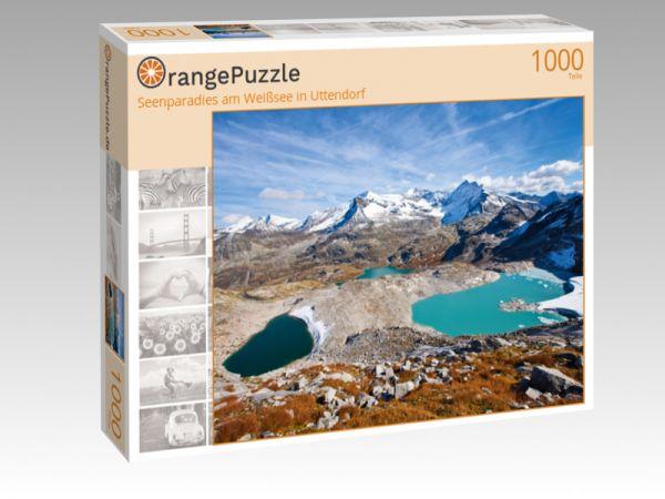 """Puzzle Motiv """"Seenparadies am Weißsee in Uttendorf"""" - Puzzle-Schachtel zu 1000 Teile Puzzle"""