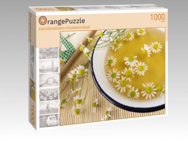 """Puzzle Motiv """"Kamillenblüten-Inhalationsbad"""" - Puzzle-Schachtel zu 1000 Teile Puzzle"""