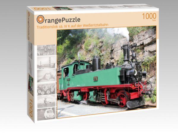 """Puzzle Motiv """"Traditionslok sä. IV K auf der Weißeritztalbahn"""" - Puzzle-Schachtel zu 1000 Teile Puzzle"""