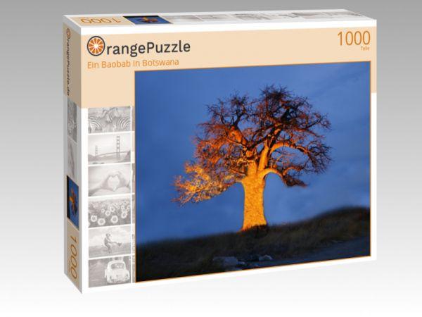 """Puzzle Motiv """"Ein Baobab in Botswana"""" - Puzzle-Schachtel zu 1000 Teile Puzzle"""