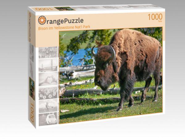"""Puzzle Motiv """"Bison im Yellowstone Nat'l Park"""" - Puzzle-Schachtel zu 1000 Teile Puzzle"""