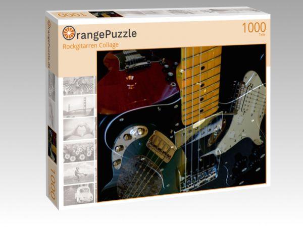 """Puzzle Motiv """"Rockgitarren Collage"""" - Puzzle-Schachtel zu 1000 Teile Puzzle"""