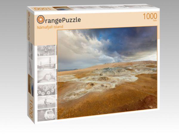 "Puzzle Motiv ""Námafjall Island"" - Puzzle-Schachtel zu 1000 Teile Puzzle"