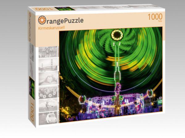 """Puzzle Motiv """"Kirmeskarussell"""" - Puzzle-Schachtel zu 1000 Teile Puzzle"""