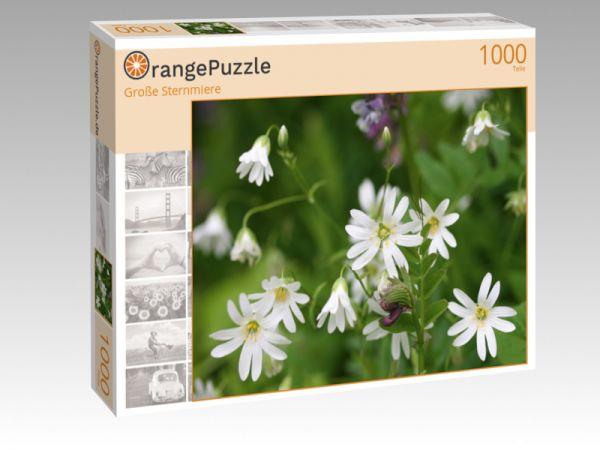 """Puzzle Motiv """"Große Sternmiere"""" - Puzzle-Schachtel zu 1000 Teile Puzzle"""