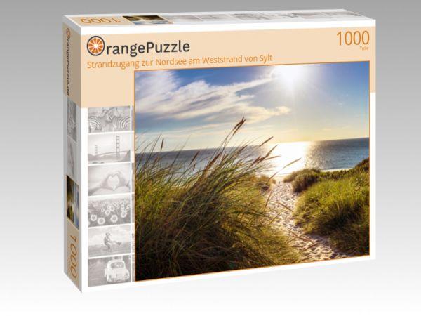 """Puzzle Motiv """"Strandzugang zur Nordsee am Weststrand von Sylt"""" - Puzzle-Schachtel zu 1000 Teile Puzzle"""