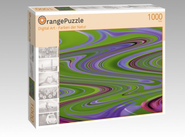 "Puzzle Motiv ""Digital Art - Farben der Natur"" - Puzzle-Schachtel zu 1000 Teile Puzzle"