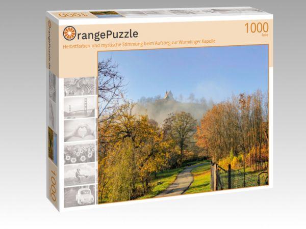 """Puzzle Motiv """"Herbstfarben und mystische Stimmung beim Aufstieg zur Wurmlinger Kapelle"""" - Puzzle-Schachtel zu 1000 Teile Puzzle"""