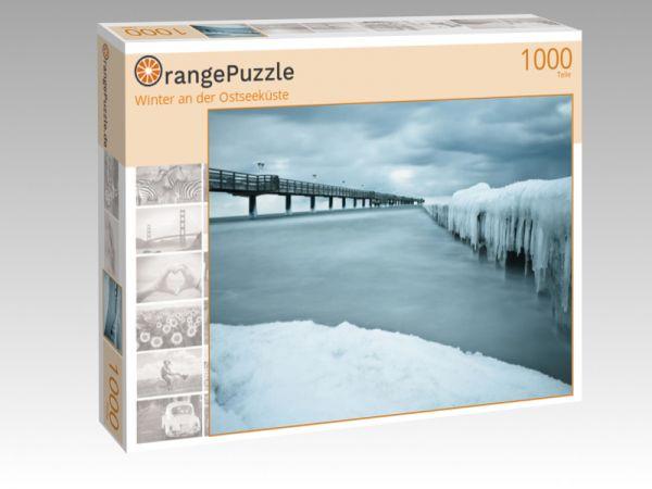 """Puzzle Motiv """"Winter an der Ostseeküste"""" - Puzzle-Schachtel zu 1000 Teile Puzzle"""