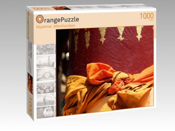 """Puzzle Motiv """"Myanmar, Mönchsroben"""" - Puzzle-Schachtel zu 1000 Teile Puzzle"""