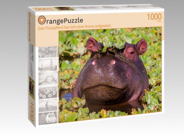 """Puzzle Motiv """"Das Flusspferd hat sich eine Krone aufgesetzt."""" - Puzzle-Schachtel zu 1000 Teile Puzzle"""