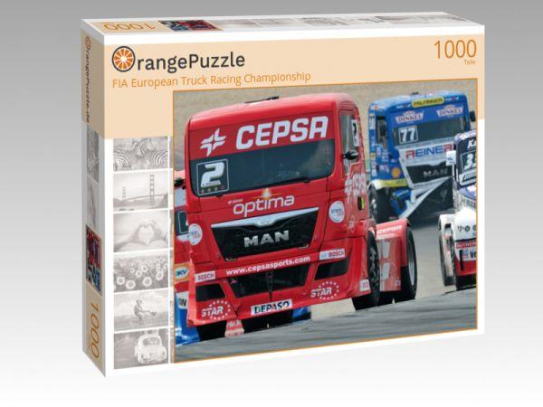 """Puzzle Motiv """"FIA European Truck Racing Championship"""" - Puzzle-Schachtel zu 1000 Teile Puzzle"""