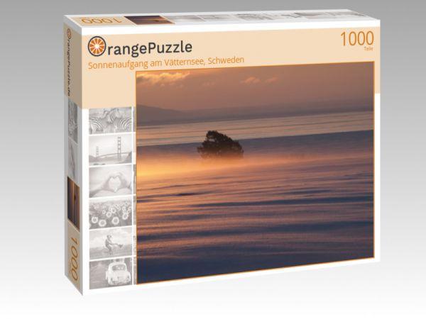 """Puzzle Motiv """"Sonnenaufgang am Vätternsee, Schweden"""" - Puzzle-Schachtel zu 1000 Teile Puzzle"""