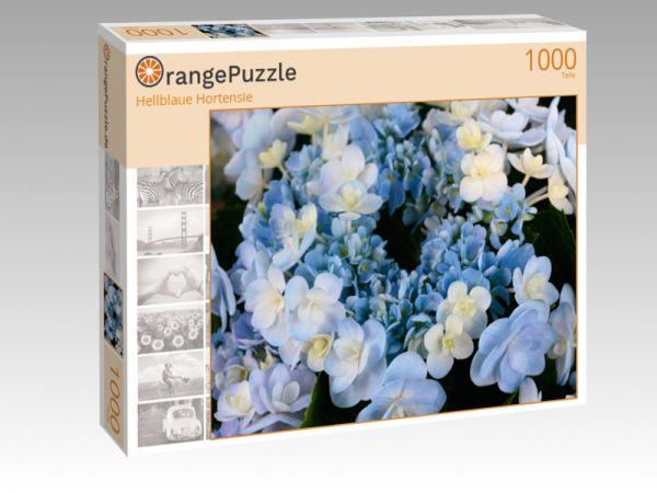 """Puzzle Motiv """"Hellblaue Hortensie"""" - Puzzle-Schachtel zu 1000 Teile Puzzle"""