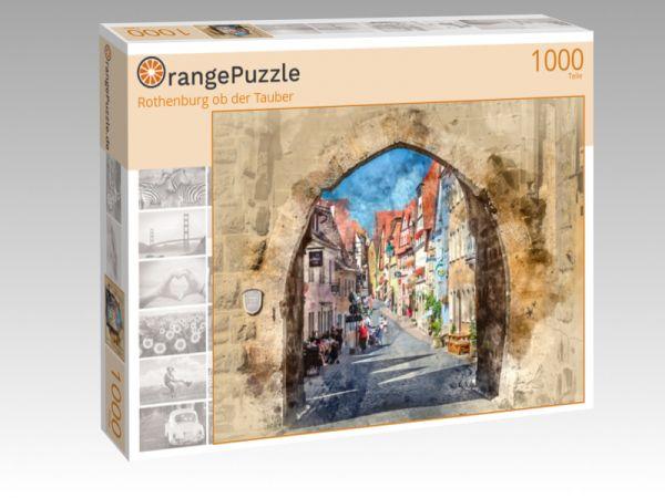 "Puzzle Motiv ""Rothenburg ob der Tauber"" - Puzzle-Schachtel zu 1000 Teile Puzzle"