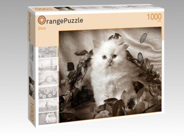 """Puzzle Motiv """"Diva"""" - Puzzle-Schachtel zu 1000 Teile Puzzle"""