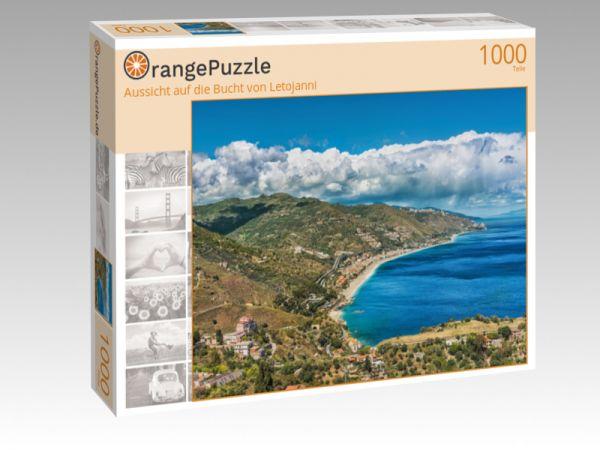 """Puzzle Motiv """"Aussicht auf die Bucht von Letojanni"""" - Puzzle-Schachtel zu 1000 Teile Puzzle"""