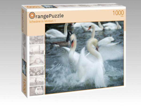 """Puzzle Motiv """"Schwäne in Motion 1"""" - Puzzle-Schachtel zu 1000 Teile Puzzle"""