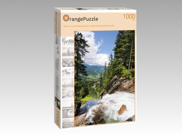 """Puzzle Motiv """"Blick von der Schettkanzel am Krimmler Wasserfall (Österreich)"""" - Puzzle-Schachtel zu 1000 Teile Puzzle"""
