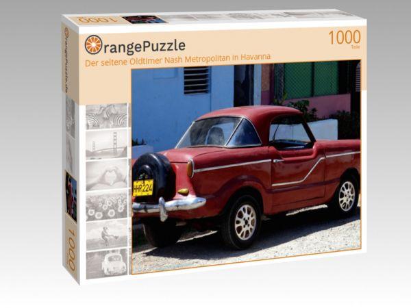 """Puzzle Motiv """"Der seltene Oldtimer Nash Metropolitan in Havanna"""" - Puzzle-Schachtel zu 1000 Teile Puzzle"""